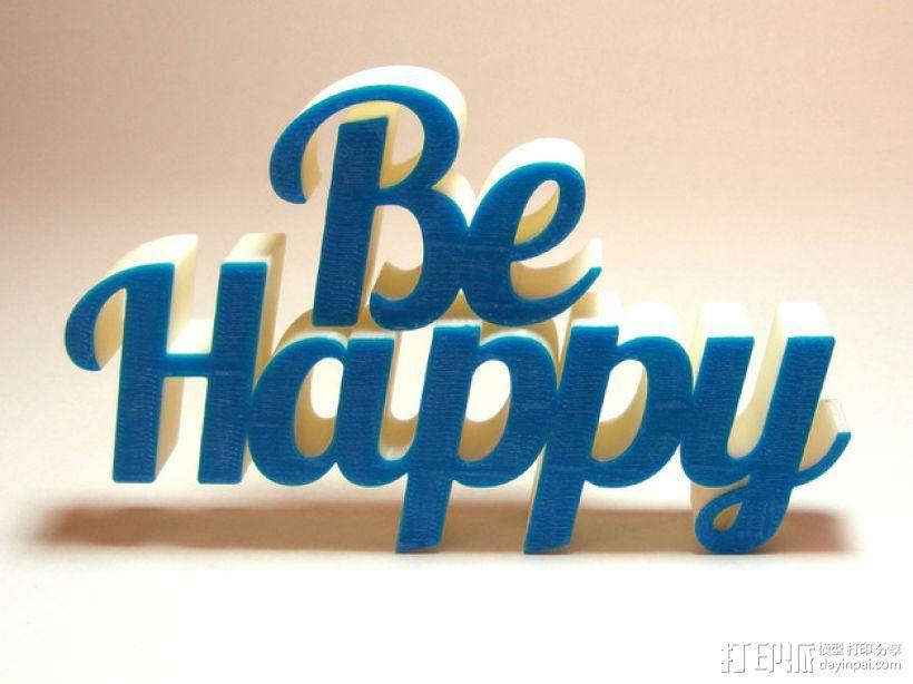 Be Happy文本模型 3D模型  图3