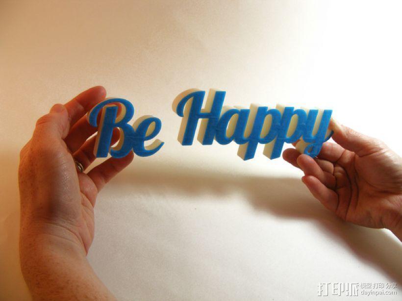 Be Happy文本模型 3D模型  图5