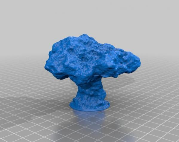 蘑菇云灯  3D模型  图2