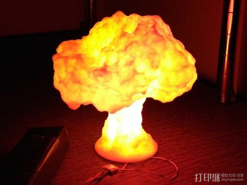 蘑菇云灯  3D模型  图1