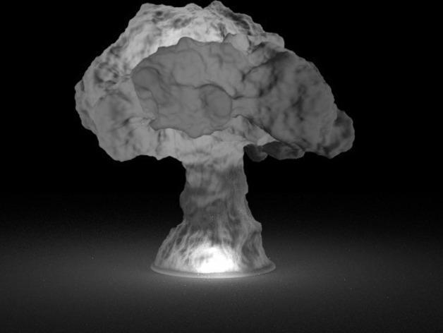 蘑菇云灯  3D模型  图3