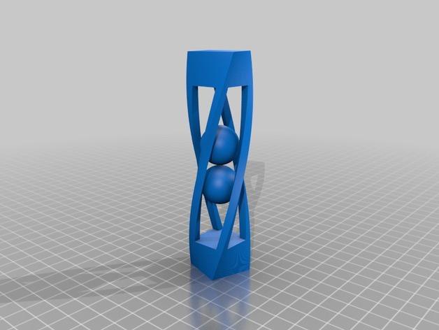 螺旋形状 笼中球  3D模型  图2