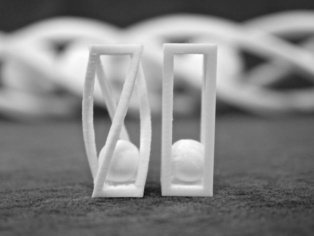 螺旋形状 笼中球  3D模型  图6