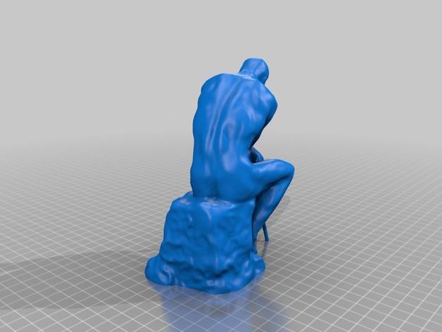 思考者 雕塑 3D模型  图2