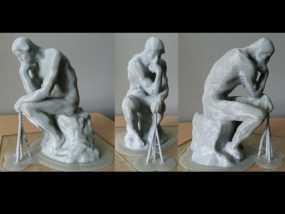 思考者 雕塑 3D模型