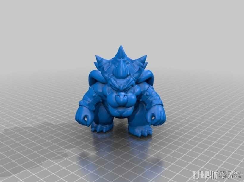 火龙库巴 雕塑 3D模型  图2