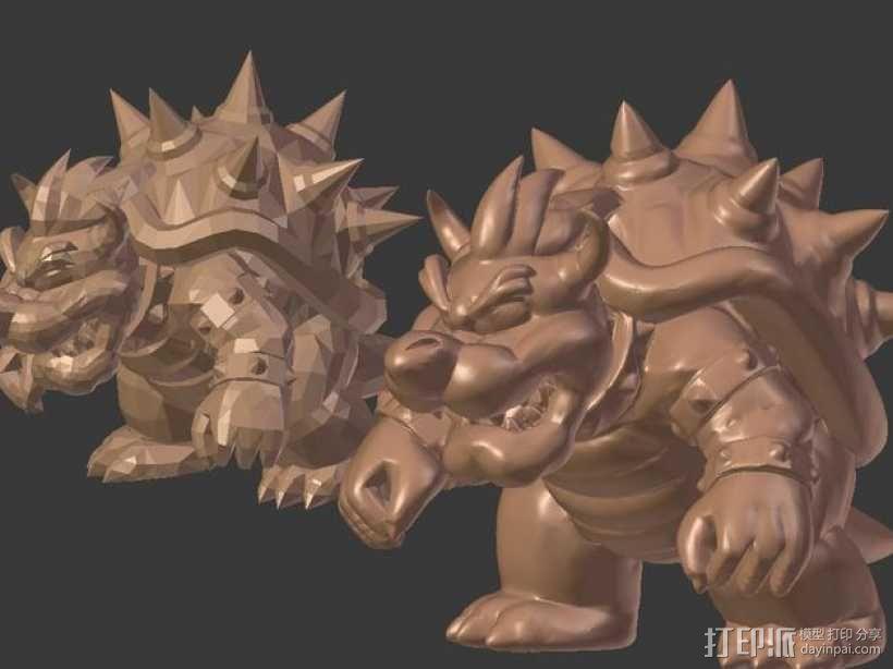 火龙库巴 雕塑 3D模型  图3