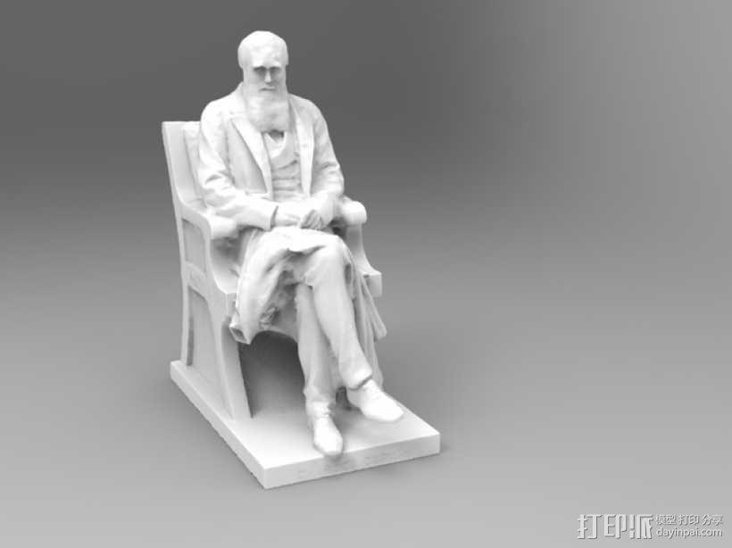 达尔文雕塑 3D模型  图1