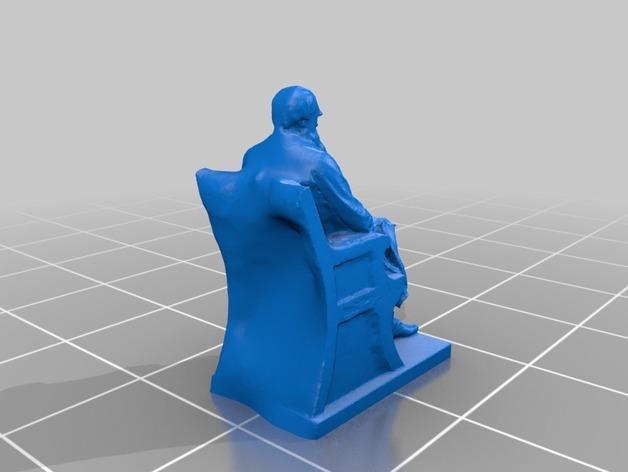 达尔文雕塑 3D模型  图2