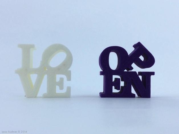字母 雕塑模型 3D模型  图4