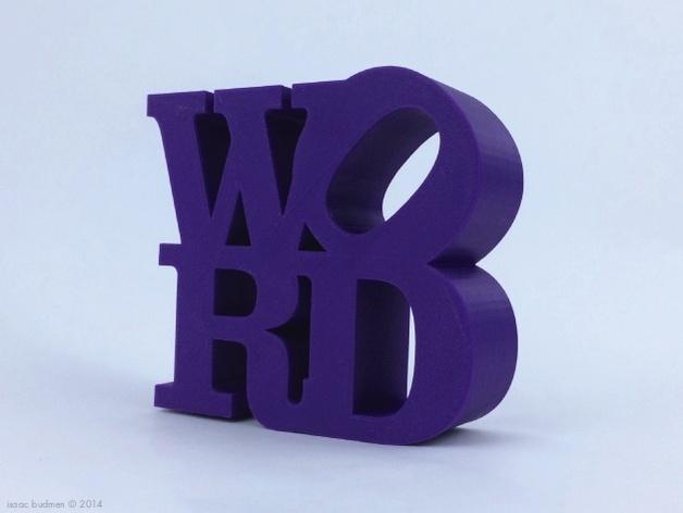 字母 雕塑模型 3D模型  图3