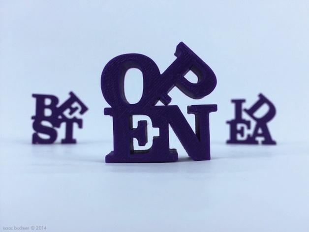 字母 雕塑模型 3D模型  图2