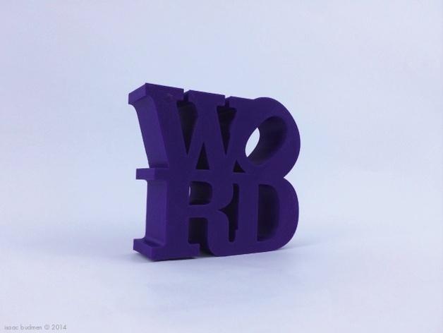 字母 雕塑模型 3D模型  图5