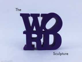 字母 雕塑模型 3D模型