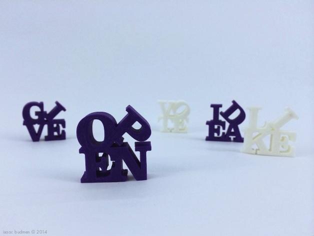 字母 雕塑模型 3D模型  图6