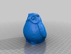 猫头鹰雕塑 3D模型