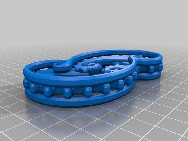 海马形齿轮 3D模型  图3