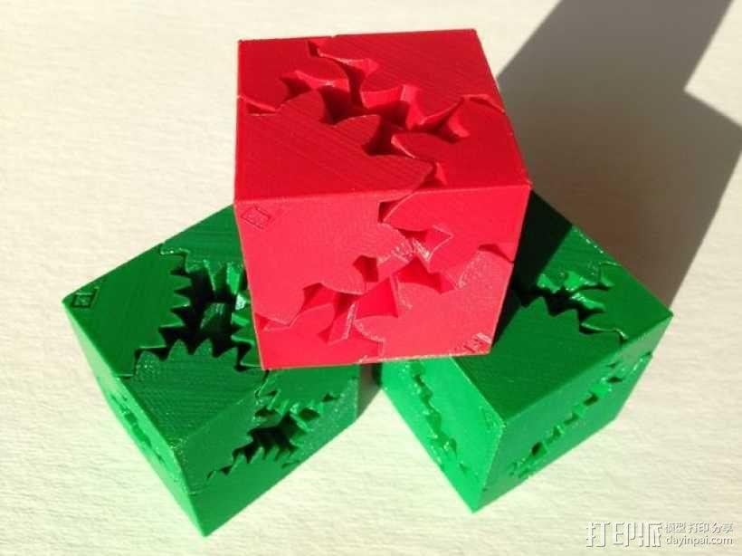齿轮方块 3D模型  图1