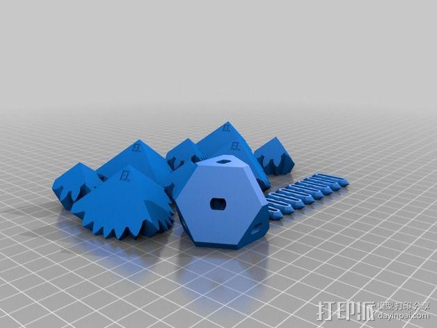 齿轮方块 3D模型  图2