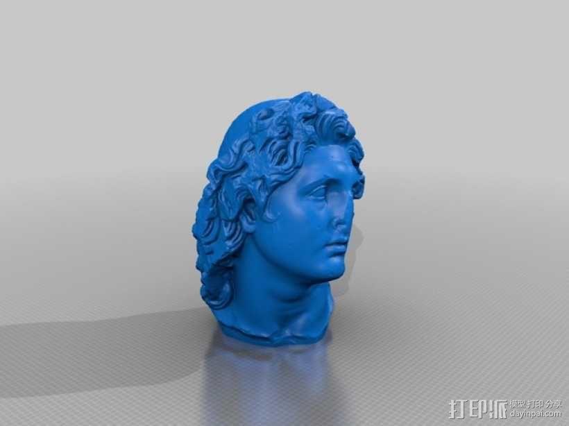 太阳神 头像雕塑 3D模型  图3