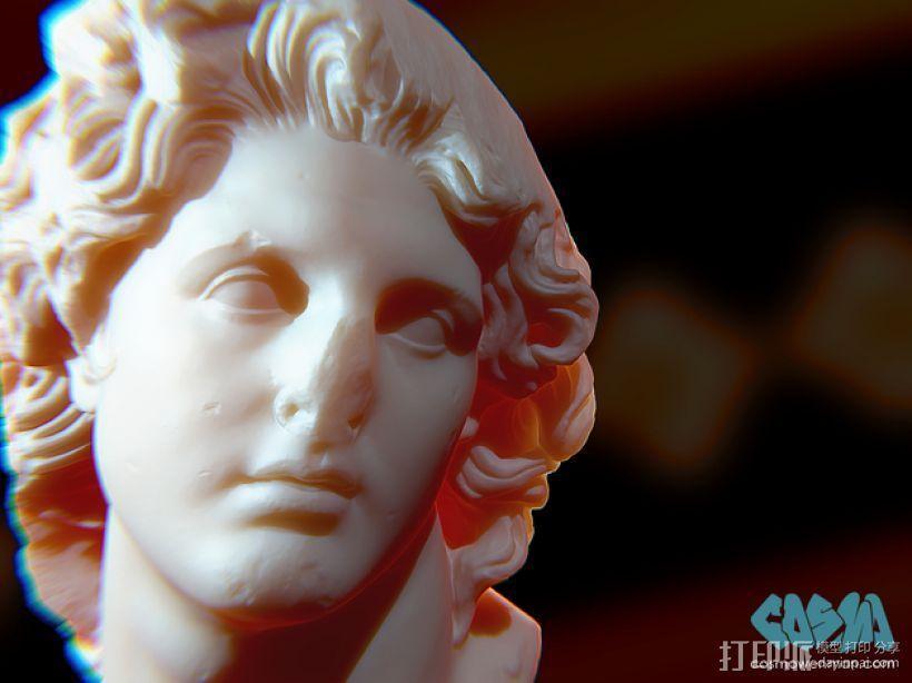 太阳神 头像雕塑 3D模型  图1