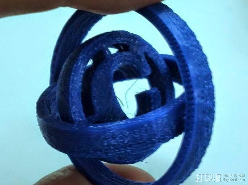 字母 平衡环 3D模型  图3