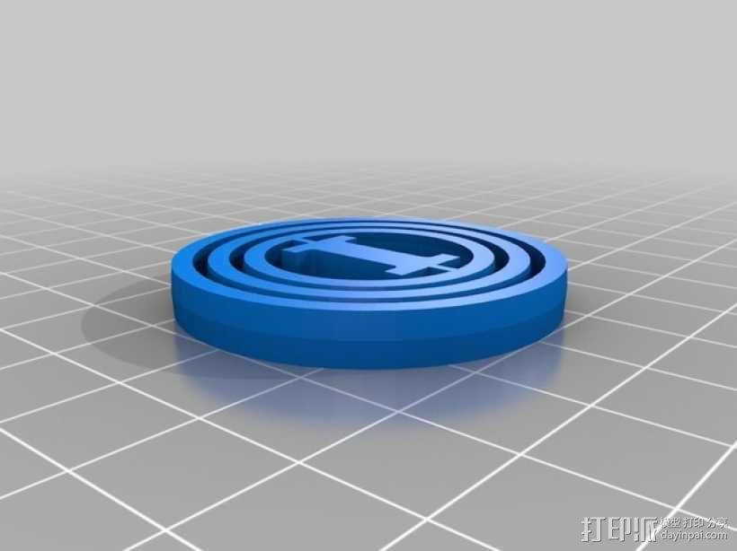 字母 平衡环 3D模型  图9