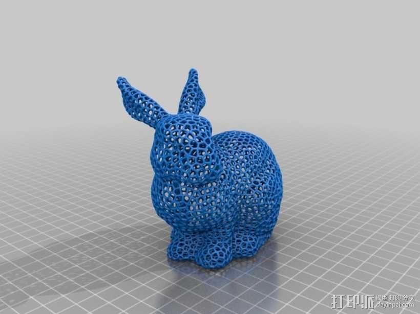 泰森多边形 兔子 3D模型  图5