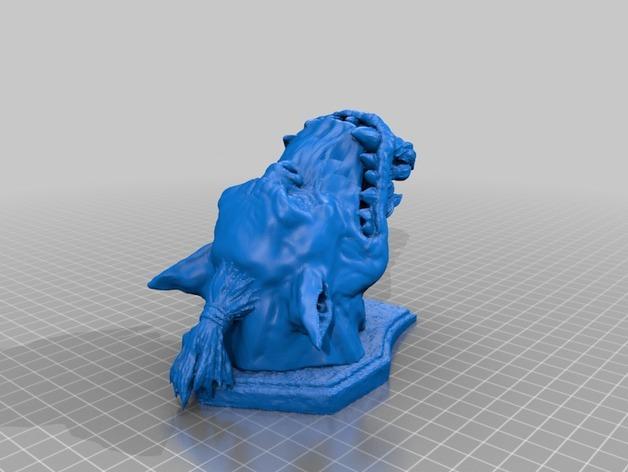 兽人 墙壁挂钩  3D模型  图2