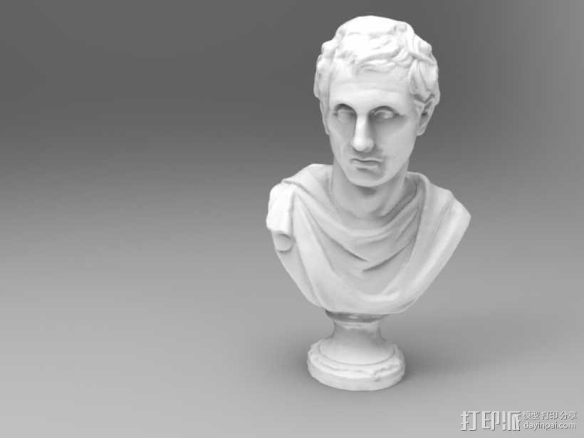 雅典剧作家米南德 雕像 3D模型  图1