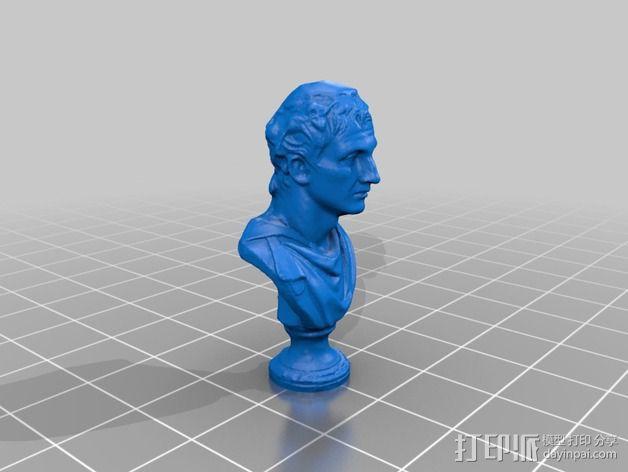 雅典剧作家米南德 雕像 3D模型  图2