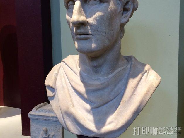 雅典剧作家米南德 雕像 3D模型  图3