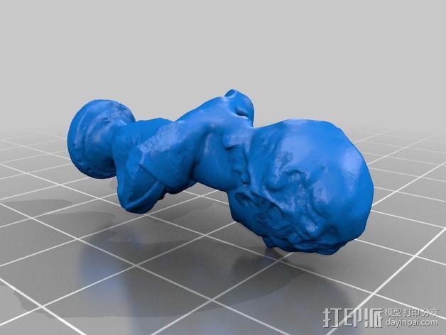 雅典剧作家米南德 雕像 3D模型  图5