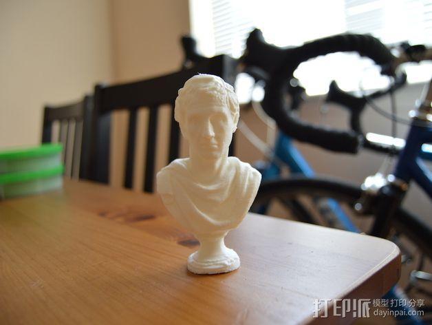 雅典剧作家米南德 雕像 3D模型  图6