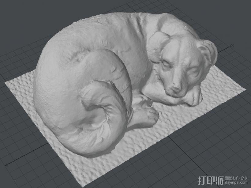 熟睡的狗 3D模型  图2