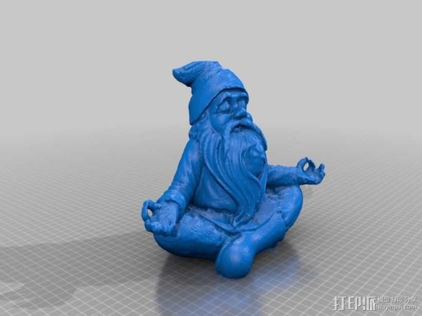 土地神 雕像 3D模型  图1