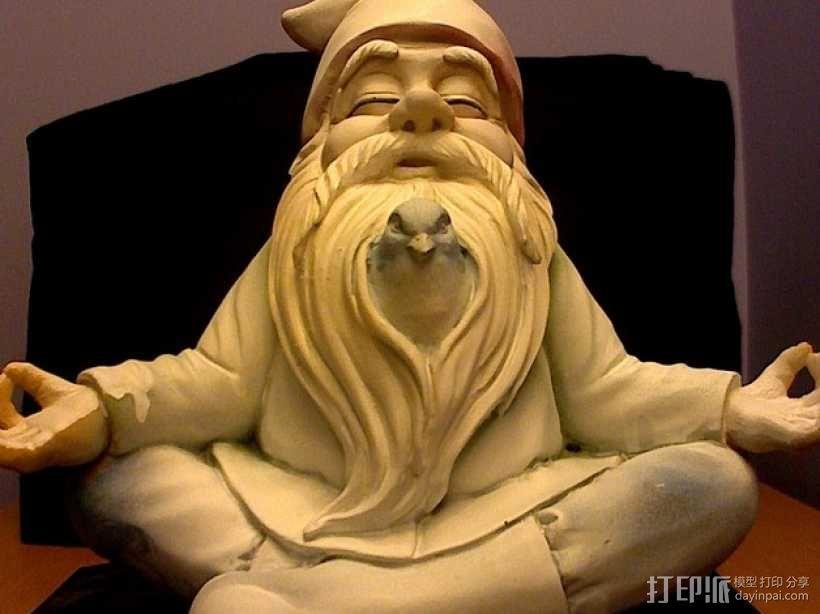土地神 雕像 3D模型  图2