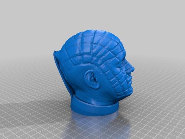 Hellraiser 头像雕塑 3D模型  图3