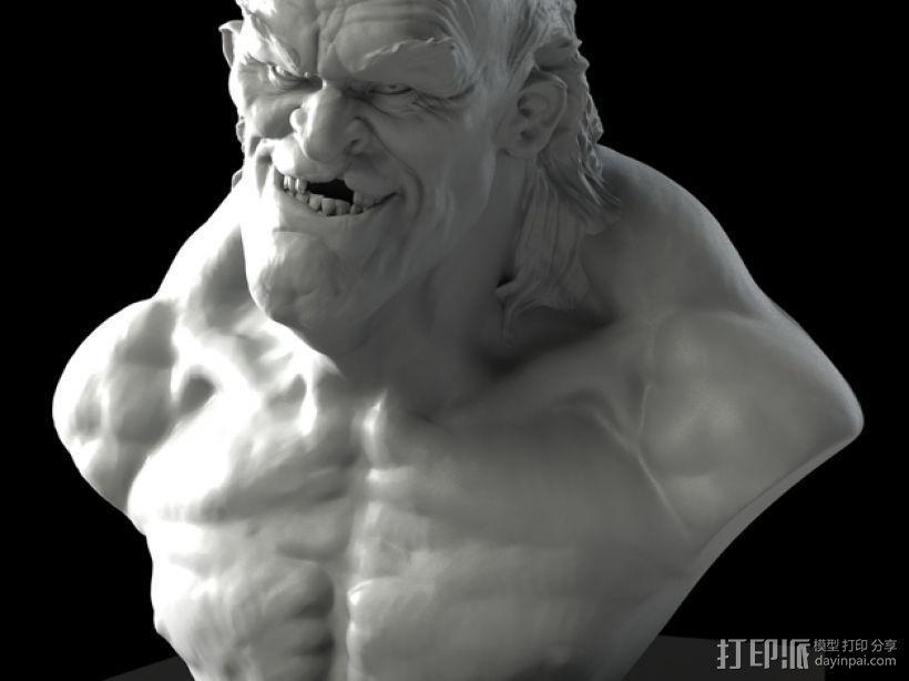 老怪物 雕像 3D模型  图1