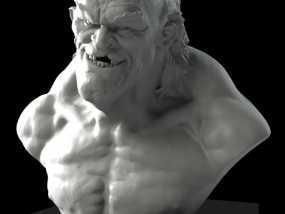 老怪物 雕像 3D模型