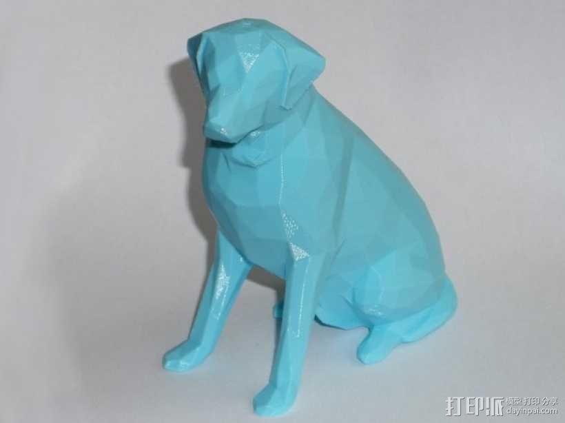 低面数 拉布拉多犬 模型 3D模型  图2