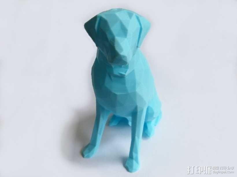 低面数 拉布拉多犬 模型 3D模型  图1