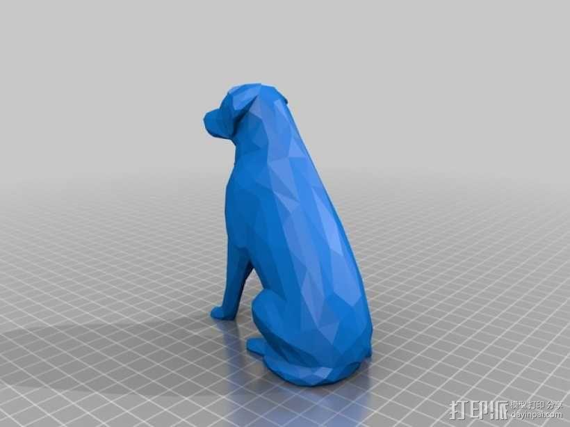低面数 拉布拉多犬 模型 3D模型  图4