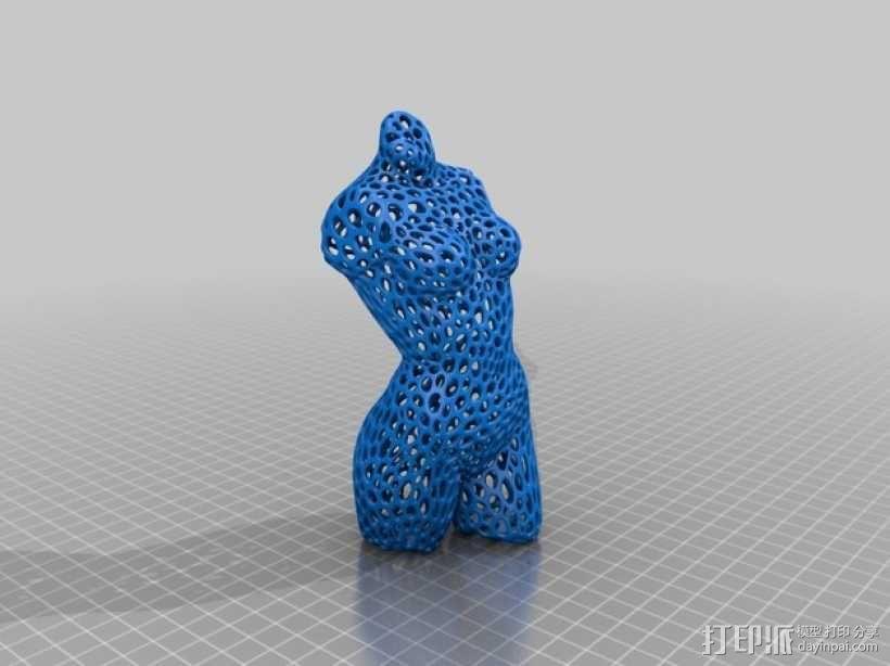 泰森多边形 粉红女郎 3D模型  图3