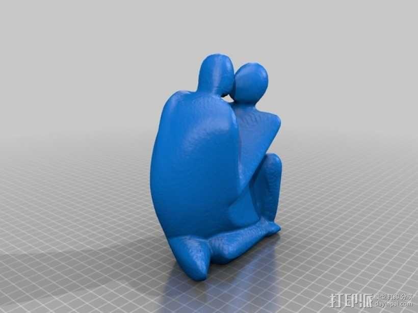 情侣 雕塑 3D模型  图2