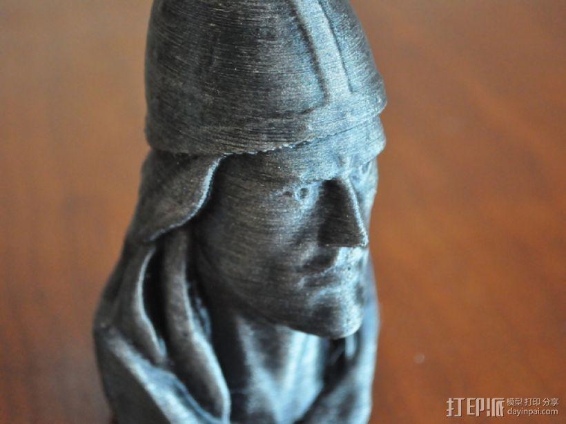 Leif Erickson头像雕像 3D模型  图1