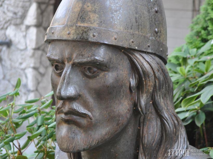 Leif Erickson头像雕像 3D模型  图3