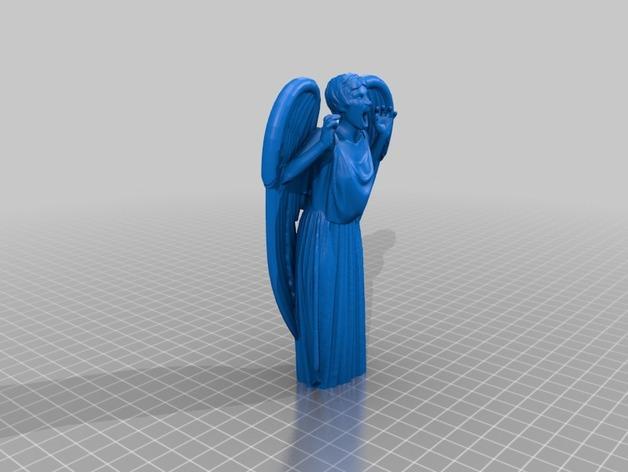 哭泣的天使 雕塑 3D模型  图2
