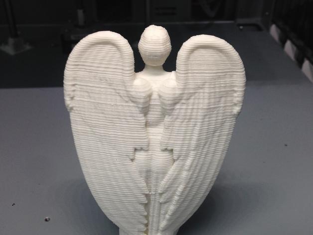 哭泣的天使 雕塑 3D模型  图4