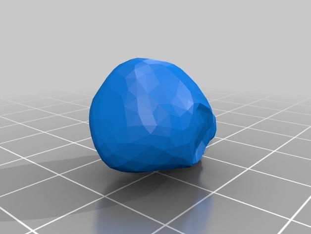 低面数头骨 3D模型  图2